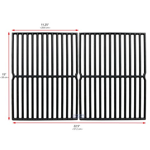 Uniflasy Cast Iron Grill Cooking Grid Grate Replacement Parts for Weber  Spirit 200 Series, Spirit 500, Genesis Silver A, for Weber 7522, 2271001,